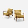 T.H. Robsjohn-Gibbings, lounge chairs model 1721, pair