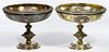 George Angell English Sterling Silver Repousse Footed Compotes