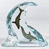 Robert Wyland (American, b.1956) 'Dolphin Light' Lucite and Metal Sculpture