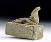 Egyptian Late Bronze Votive Sarcophagus w/ Snake