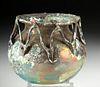 Stunning Roman Glass Jar - Rigaree On Neck