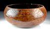 Early / Fine 19th C. Hawaiian Kou Wood Bowl / Umeke