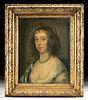 17th C. Portrait of Miriam Stansfield Draper (framed)