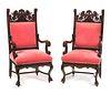 8 Oak RJ Horner Lion Chairs