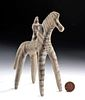 Greek Boeotian Pottery Horse and Rider, TL
