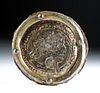 Roman Gilded Silver / Iron Medallion - Aristocratic Man