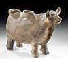 19th C. Peruvian Pottery Bull / Torito