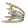 18K Two Tone Gold and Diamond Ring