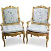 Pair of Rococo Style Armchairs