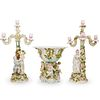 (3 Pc) Von Schierholz Porcelain Garniture Set