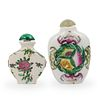 (2pc) Chinese Porcelain Snuff Bottles
