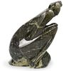 Signed Variegated Marble Sculpture