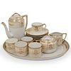 (16 pc) Japanese Porcelain Gilded Tea Set