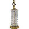 Antique Brass & Cut Glass Table Lamp