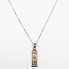 Sterling Silver Chain with Hieroglyphic Pendant