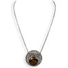 Sterling Silver Tigers Eye NecklaceÂ