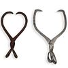 (2 Pc) Antique Iron Meat Clamps