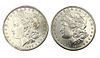1890 and 1890-S Morgan Silver Dollar Coin Lot