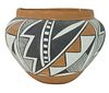 J. Martinez Acoma Native American Ceramic Vase