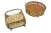 Pair of Victorian Gilt Brass & Glass Vanity Boxes