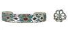 Set of Navajo Turquoise & Silver Chip Bracelet