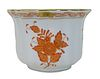 Herend Chinese Bouquet Rust Porcelain Cache Bowl