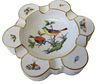Herend Rothschild Bird Porcelain Ashtray