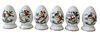 Six (6) Herend Rothschild Porcelain Salt & Peppers