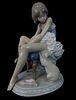 Lladro #5689 Ballerina and Cat Porcelain