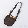 Leather Shot Bag and Powder Horn