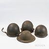 Three U.S. Helmets and Liners