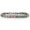 18k Gold, Emerald and Diamond Bracelet