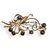 14k Gold and Cats Eye Brooch