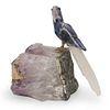 Hand Carved Semi-Precious Stone Macaw