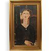 After Modigliani Hand Embellished Giclee Print