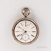 Sterling Silver Thomas Russell & Son Open-face Watch with Wind Indicator