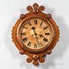 """F. Krober Walnut """"Maltese"""" Wall Clock"""