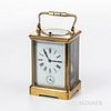 French Grand Sonnerie and Alarm Carriage Clock