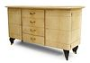 French Jacques Adnet Parchment Sideboard