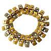 1965 Bjorn Weckstrom Finnish Modern 14 Karat White and Yellow Gold Link Bracelet