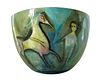Monumental Polia Pillin Surrealist Equine Themed Ceramic Studio Bowl