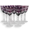 (9 Pc) Bohemian Clear to Color Crystal Stemware