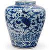 Chinese Qing Blue & White Vase