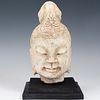 Chinese Solid Stone Buddha Bust