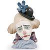 "Lladro ""Clown Head Bowler-Hat"" Porcelain"