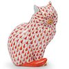Herend Porcelain Fishnet Cat Figurine