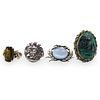 (4 Pc) Mixed Lot of Sterling Jewlery
