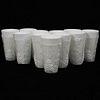 (11Pc) Milk Water Glass Set