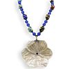Costume Glass and Mother Of Pearl Necklace