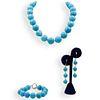 (4 Pc) Turquoise Beaded Jewlery Set
